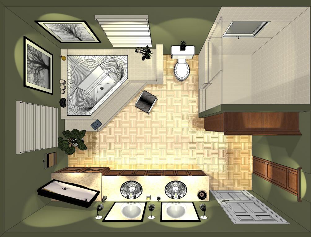 Designs for Bathroom designs top view